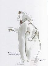 Arlequino disfrazado de monje