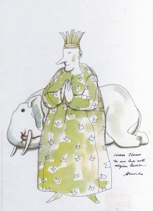 Rey Juan Claros y Elefante